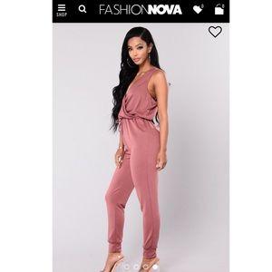 Mauve Jumpsuit from Fashion Nova